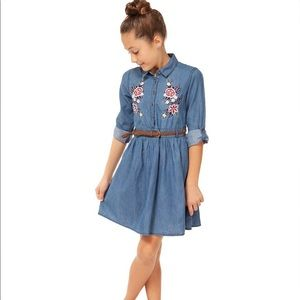 Dex Girl's Embroidered Cotton Dress